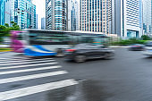 shanghai Cityscape and road traffic