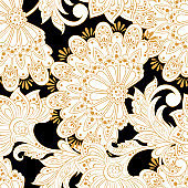 Ethnic flowers pattern