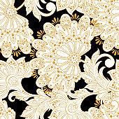 Ethnic flowers pattern