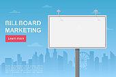 Billboard city marketing landing page vector template