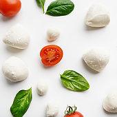 Colorful ingredients pattern