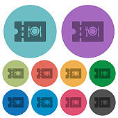 Eating discount coupon color darker flat icons