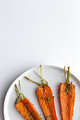 Delicious roasted carrots from above