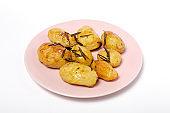 Homemade roasted potatoes with rosemary