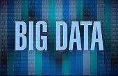 Big data sign concept illustration design
