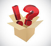 Exclamation and question marks inside a box