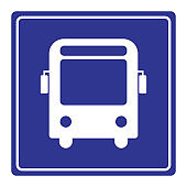 bus stop sign vector