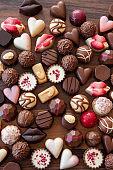Assortment of delicious chocolates