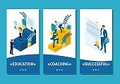 Isometric Template app Conceptual education and coaching is the key to success. Diplomas and knowledge, smartphone apps