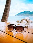 Sunglasses on the beach