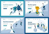 Set Template design, Isometric business solutions, Competition, contest, Receive a prize