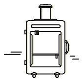 Trolley Bag Luggage Icon - Illustration