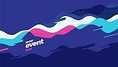 Layout poster template design for mega event