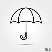 Umbrella line icon vector illustration