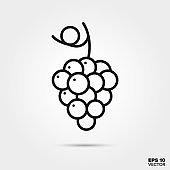 Grapes line icon vector illustration