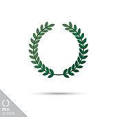 laurel wreath smooth vector icon