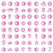 flower icon - flower pattern seamless vector illustrator