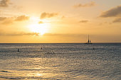 Sunset at Eagle Beach in Aruba