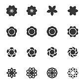flower icon vector illustration .