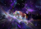 colorful outer space, futuristic background