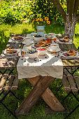 정원의 아침식사