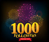 1 million followers celebrations banner with fireworks