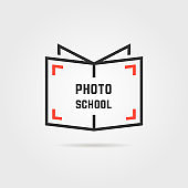 photo school logo with shadow