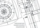 Vector engineering illustration. Cover, flyer, banner, background