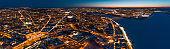 Aerial night view of Nizhny Novgorod, Russia