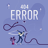 Concept 404 Error Page or File not found for web page