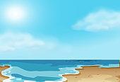 Nature coastal beach scene