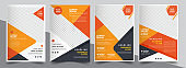 Brochure design, cover modern layout, annual report, poster, flyer in A4 with colorful triangles