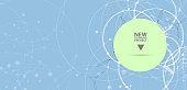 Abstract hexagon background. Technology polygonal design. Digital futuristic minimalism