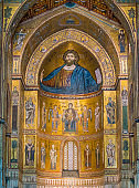 Cathedral of Monreale, in the province of Palermo. Sicily, southern Italy.