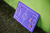 Football Board for tactics on a green background.