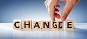 Change And Chance - Business Strategy Concept - Text On Wooden Blocks