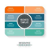 Infographic business visualization.