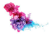 color splash in water from ink