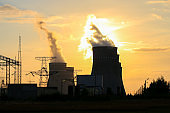 Cooling towers against the sun and Electricity sub statins and transmitting towers
