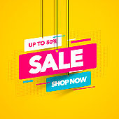 Vector illustration sale banner template design, Big sale special offer.