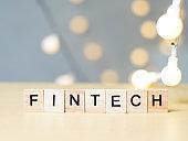 Finance Technology Fintech, Business Words Quotes Concept