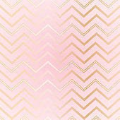 Seamless abstract geometric zigzag pattern Elegant luxury golden lines on a light pink background Girls pattern zigzag print on paper, fabric, wallpaper Design element Vector background zigzag pattern