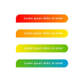 Banner line stripe of colorful gradient Button with text Design element for infographics advertising banner business Bright background gradient line for info messages advertising infographic Vector