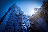 Shenzhen Financial District skyscraper building glass exterior wall