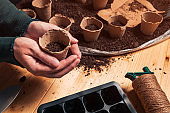Gardener with biodegradable soil pot container