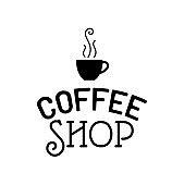 Beautiful retro Coffee Shop logo template vector