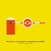 404 Page not Found Design Template. 404 Error Page Concept. Link to Non-Existing Domain. Vector Illustration