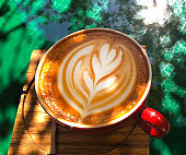 Coffee with Flower Shaped Foam