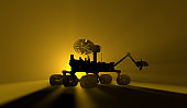 Mars Rover at Mars Dawn