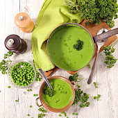 green pea soup, cooking cold soup